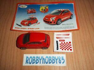 TR-2-5 CL FIAT 500 ABARTH ROSSA + BPZ KINDER GRANSORPRESA MINI ITALIA 2013