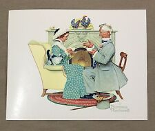 Vintage 1970's Norman Rockwell Gaily Sharing Vintage Times Four Seasons Print 1