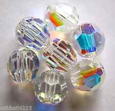 3 6 mm Swarovski 5000 Crystal Rounds -- Crystal AB
