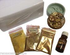 STEAMPUNK SOAP MAKING KIT: Mould,3 Micas,1 Balance Ess' Oil,1kg M&P Soap