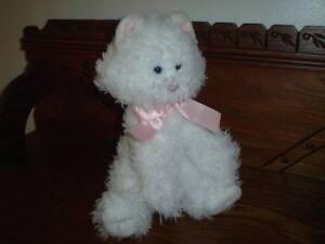 Russ FUFFI Cat 12 inch Soft White Furry Plush