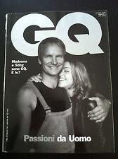 GQ Italy -  MADONNA & STING (N. 1 - 1999 RARE)  Moana Pozzi, Ewan McGregor, Gale