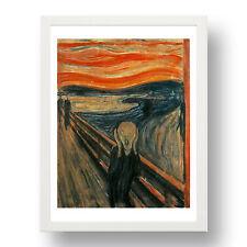 """Edvard Munch:  The Scream [1883], Classic Artwork in 13x9"""" White Frame"""