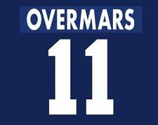 Overmars #11 Ajax 1995-1996 Away Football Nameset for shirt