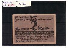 Notgeld 2 Mark Hannover 1 Wert komplett