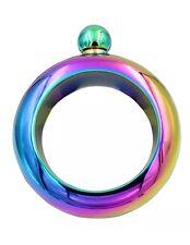 "🍸""Rainbow"" Booze Smuggle Bracelet Bangle Flask Alcohol Drink Festival Jewellery"