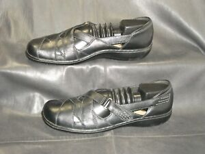 Clarks Bendables Ashland Spin women's black leather casual shoes size US 6.5 M