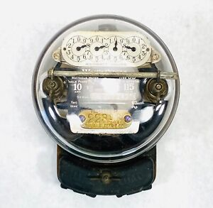 Vintage Westinghouse Watthour Meter 0B Single Phase 10 Amp 115-210 Volts