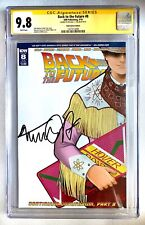 BACK TO THE FUTURE #8 CGC SS 9.8 SIGNED MICHAEL J. FOX. SUBSCRIPTION VARIANT IDW