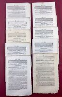 Lot Feuille de Douai 1802 Département du Nord Rare Lot 10 Journaux Consulat