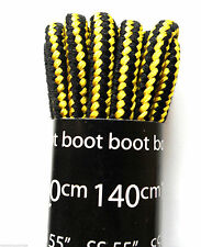 Black and Yellow Boot Laces for Walking-Hiking Kickers & Timberland Shoe Stripe