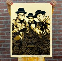 Obey Giant Shepard Fairey RUN-DMC Raising Hell Gold Signed/Numbered **SHIPPED**