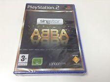 Singstar ABBA sin micros para la Sony PS2 usado completo