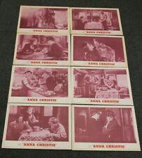 Anna Christie  R 62 Original Lobby Card Set of Eight (8) MGM Theater Display