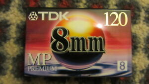 TDK 8mm Camcorder Videotape, MP Premium 120 Video 8 (LP-4h/SP-2h) -NEW