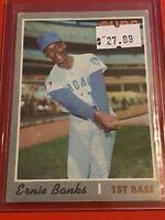 VINTAGE 1970 Topps Baseball Card Set #630 Ernie Banks EX CHICAGO CUBS High #'s