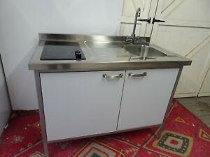 Ikea Free Standing kitchen all in one ~ Sink ~ Taps ~ ceramic Hob & Fridge