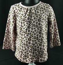 Gymboree Kitty Glamour Girls Size 3 Pink Leopard Shirt Top Long Sleeves