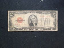 RARE 1928 Two Dollar RED SEAL STAR NOTE Circulated $2 Bill Starts At 99 Cents!