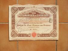 AUTOMOBILES DE LIVRAISON.