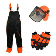 Chainsaw Protection Safety Kit Medium Bib & Brace Medium Gloves Helmet