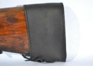 Genuine Leather Slip on Recoil Pads Butt Stock Holder Extension Rifle Gun Pad