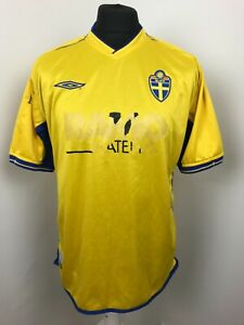 large SWEDEN FOOTBALL shirt  home  2004 SWEDISH SOCCER JERSEY maglia camiseta