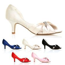 Kitten Bridal or Wedding Peep Toe Shoes for Women