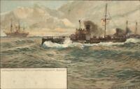 German Navy Battleships Torpedoboots SM Topedo-Schulschiff Blucher RAOUL FRANK