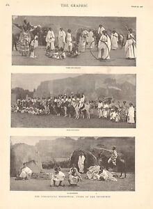 1901 ANTIQUE PRINT - SOMALILAND EXPEDITION - TYPES OF THE TRIBESMEN
