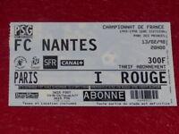 [Collezione Sport Calcio] Ticket Psg / FC Nantes 13 Febbraio 1998 Champ.france