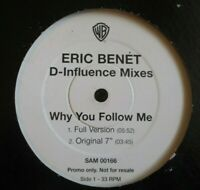 "ERIC BENET ~ Why You Follow Me D-INFLUENCE MIXES ~ 12"" Single PROMO"