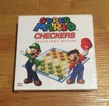 Super Mario Checkers Collector's Edition New Sealed Nintendo Usaopoly