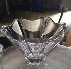 Huge Swedish Art Glass Crystal Orion Bowl Vase Lars Hellsten Orrefors KOSTA Boda