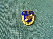 VINTAGE OXFORD SPEEDWAY SUPPORTERS ENAMEL PIN BADGE