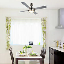 52� Ul Listed Ceiling Fan Light Brushed Nickel Finish w/ 15W Led & Remote