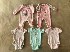 Newborn Girl Gerber Onesies and Koala Baby Pajamas
