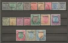 BURMA 1937 SG 1/18 USED Cat £900