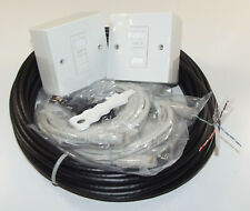 20m Black External Cat6 Home Network Cabling Kit with cable, sockets & IDC tool