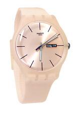 Swatch SUOT700 Rose Rebel  Pink Dial Unisex Watch NEW