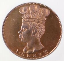 Barbados 1792 Penny Proof Restrike in NGC PF 65 RB