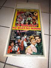 LOCANDINA 1963  LA RAGAZZA PIU' BELLA DEL MONDO,DORIS DAY,BOYD,CIRCO,