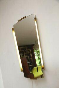 70er 60er  Wall mirror Spiegel Beleuchtet Mid Century