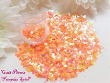 Nail Art *Pumpkin Spice* Pastel Holographic Hex Rhombus Chunky Mix Glitter Pot