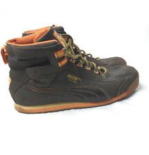 PUMA Vintage Reto Hi Top Mens Sneakers Brown Orange RARE US12 Excellent Preowned