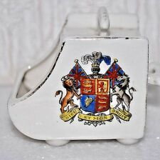 VINTAGE 'DIEU ET MON DROIT'  CRESTED CHINA MINIATURE COAL  SCUTTLE