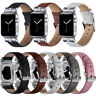 40/44mm Leather Wristband Diamond Strap For Apple Watch iWatch Series SE 6 5 4 3