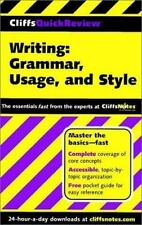 CliffsQuickReview Writing: Grammar, Usage, and Style Eggenschwiler, Jean, Biggs