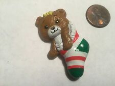 Russ Pin- Bear in Christmas Stocking Pin