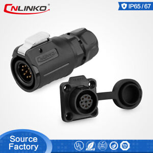 CNLINKO 9 Pin Aviation Plug Male&Female 20AWG Wire Solder Connector Plug Socket